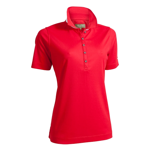 Dame Performance Polo, Rød