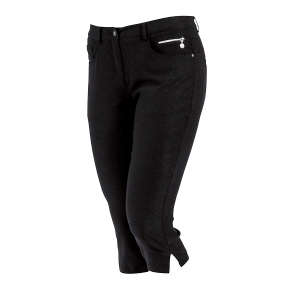 Dame Super Stretch Capri, Sort