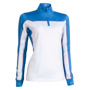 Dame Zipneck Sports Baselayer, Optical White