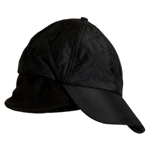 Dame Quilted termo Cap, Sort