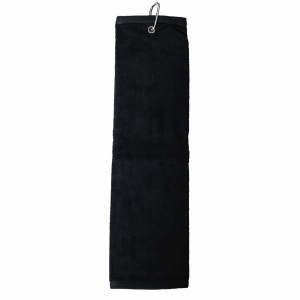 BACKTEE Golf Folded Towel, Sort
